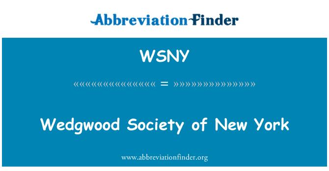 WSNY: Wedgwood Society of New York