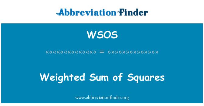 WSOS: Suma ponderada de los cuadrados