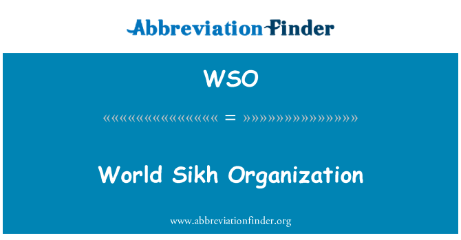 WSO: World Sikh Organization