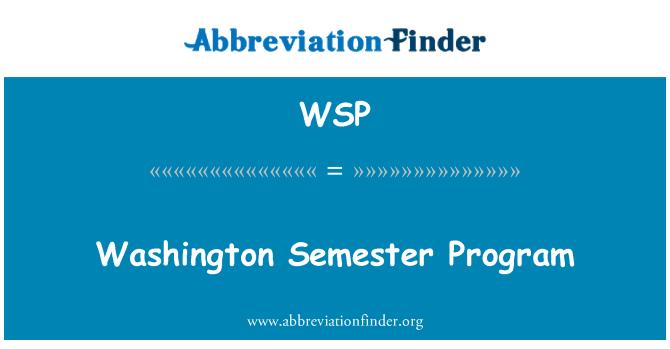 WSP: Washington Semester Program