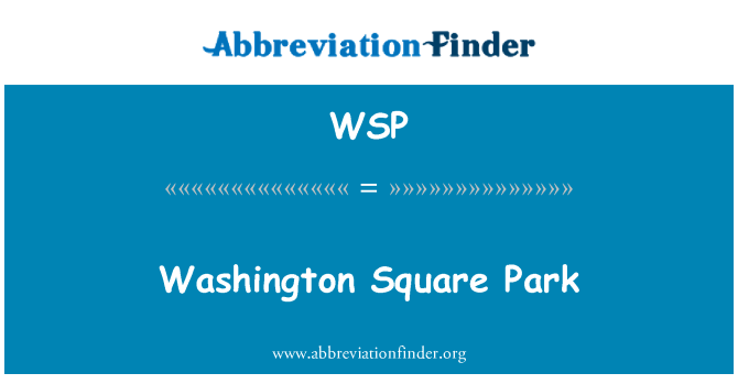 WSP: Washington Square Park