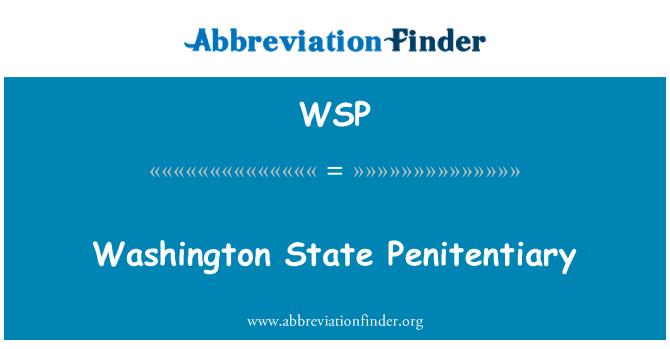 WSP: Washington State Penitentiary