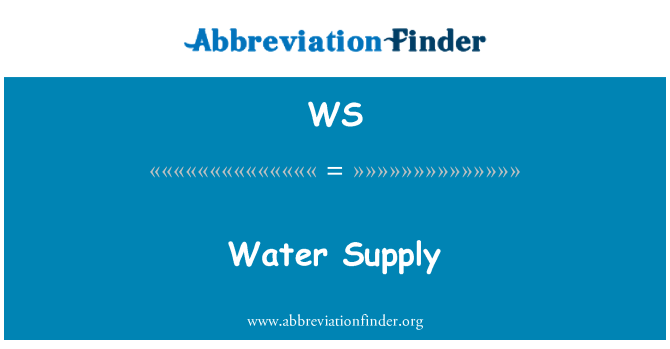 WS: Water Supply