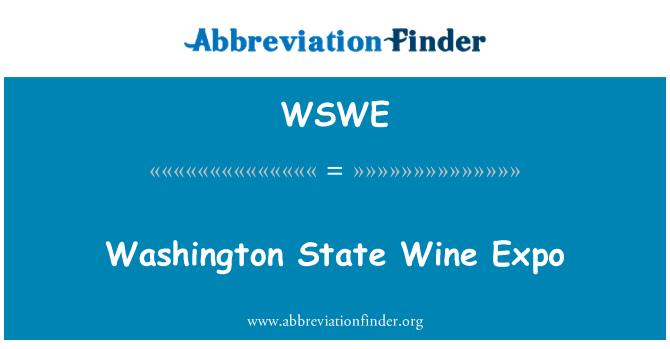 WSWE: Washington državni Wine Expo