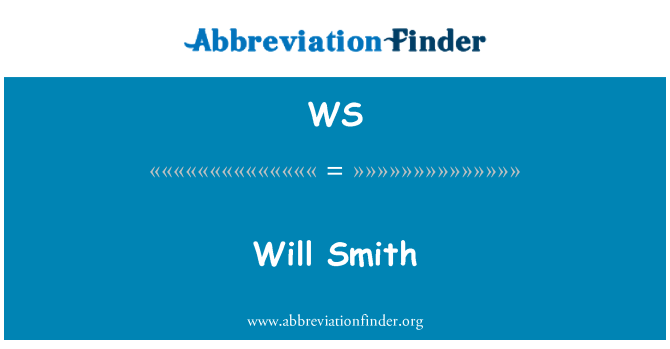WS: Will Smith
