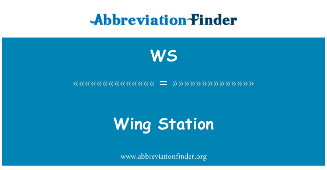 WS: Wing Station