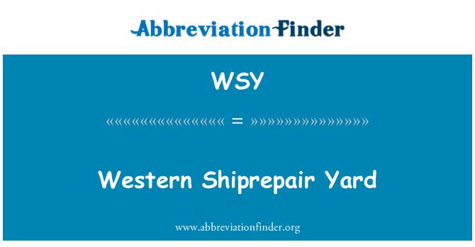 WSY: Western Shiprepair Yard
