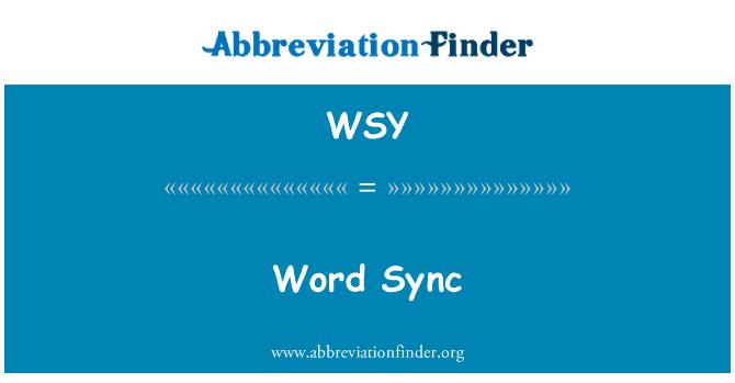 WSY: Word Sync