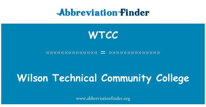 WTCC: Wilson teknik Yüksekokulu