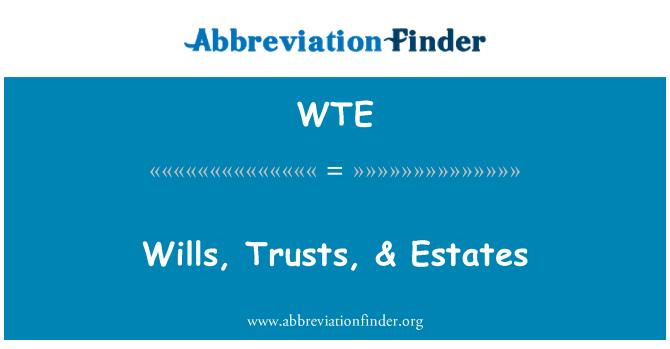 WTE: Wills, Trusts, & Estates