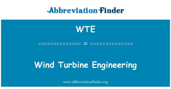 WTE: Wind Turbine Engineering