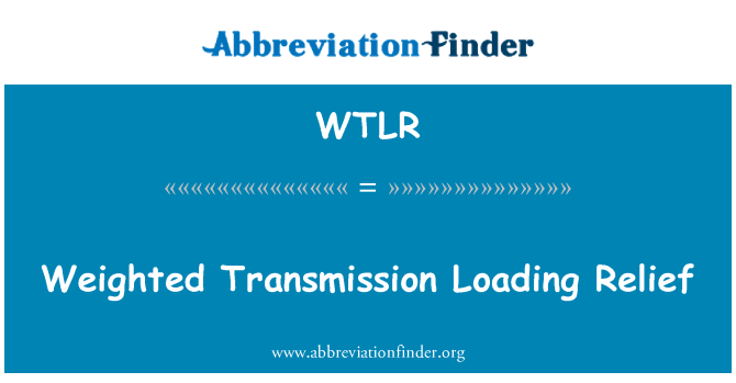WTLR: Weighted Transmission Loading Relief