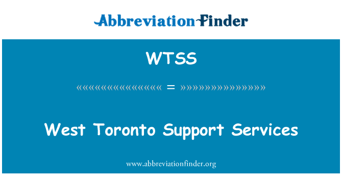 WTSS: West Toronto Support Services