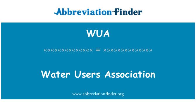 WUA: Water Users Association