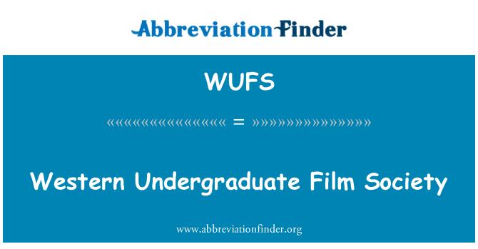 WUFS: Lääne bakalaureuse Film Society
