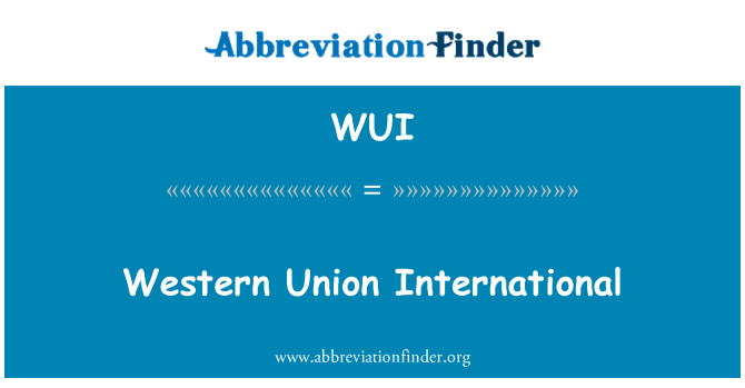 WUI: Western Union International