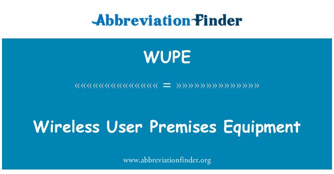 WUPE: Kablosuz kullanıcı kuruluş donatım