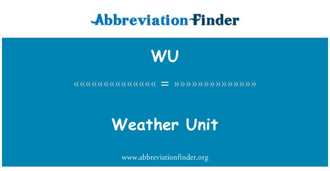 WU: Weather Unit
