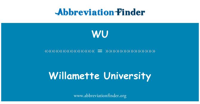 WU: Willamette University