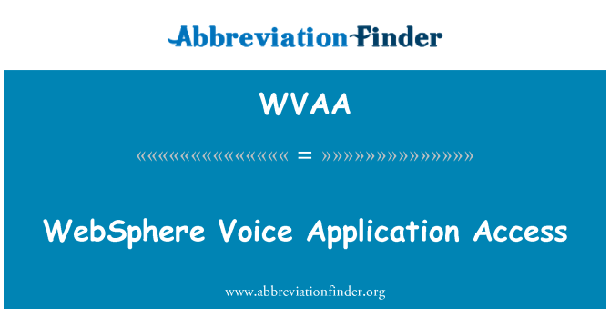 WVAA: Acceso a las aplicaciones WebSphere voz
