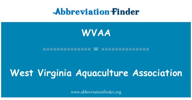 WVAA: Asociación de acuicultura de Virginia Occidental