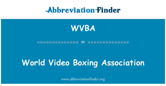 WVBA: Asociación Mundial de boxeo Video