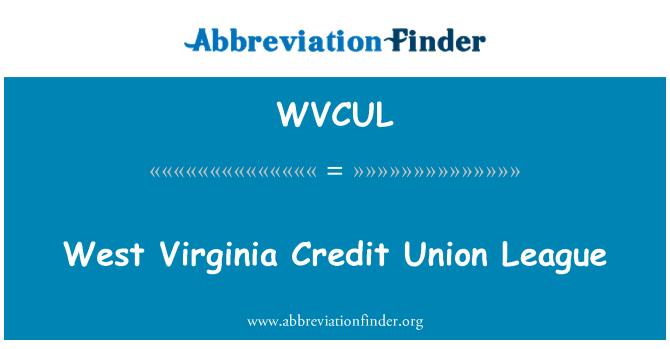 WVCUL: West Virginia Credit Union League