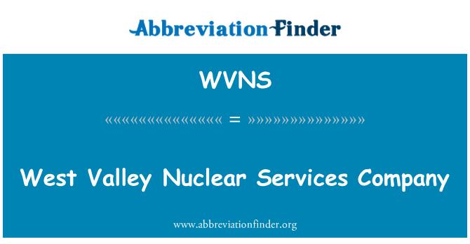 WVNS: Empresa de servicios nucleares de West Valley