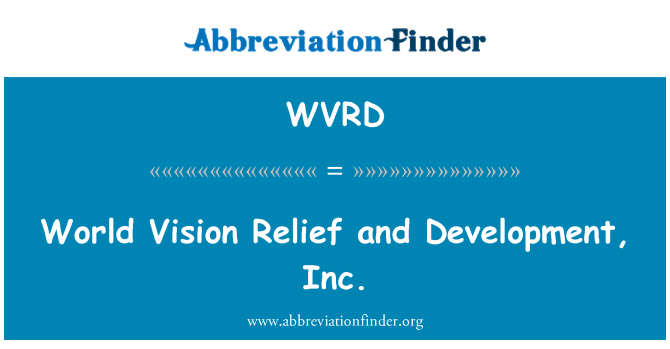 WVRD: World Vision Relief y desarrollo, Inc.