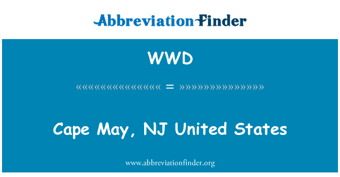 WWD: Cape May, NJ United States