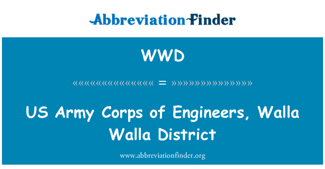 WWD: US Army Corps of Engineers, Walla Walla District