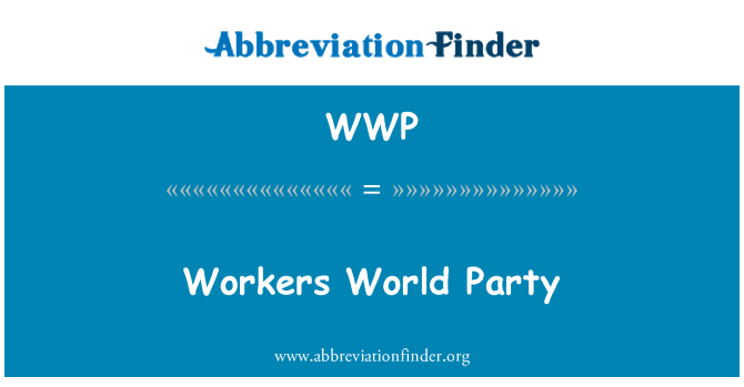 WWP: Workers World Party