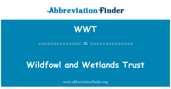 WWT: Wildfowl and Wetlands Trust
