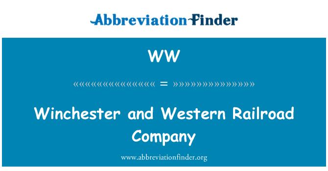 WW: Winchester and Western Railroad Company