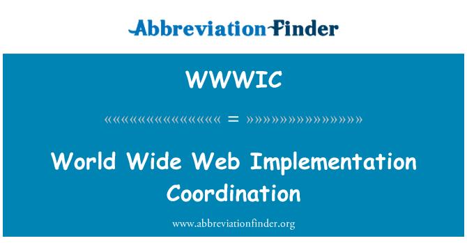 WWWIC: Coordinación de implementación de World Wide Web