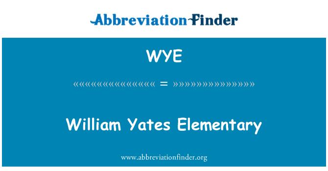 WYE: William Yates Elementary