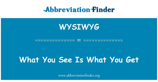 WYSIWYG: Lo que ves es lo que usted consigue