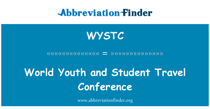 WYSTC: World Youth and Student Travel Conference