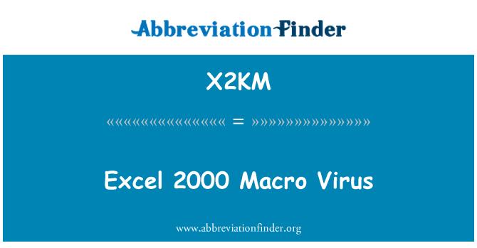 X2KM: Excel 2000 Macro Virus