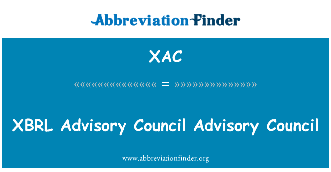 XAC: XBRL   Advisory Council Advisory Council