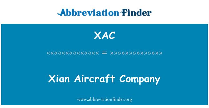 XAC: Xian Aircraft Company