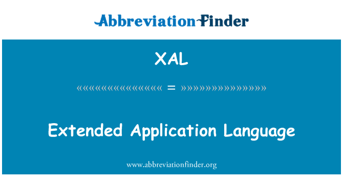 XAL: Extended Application Language