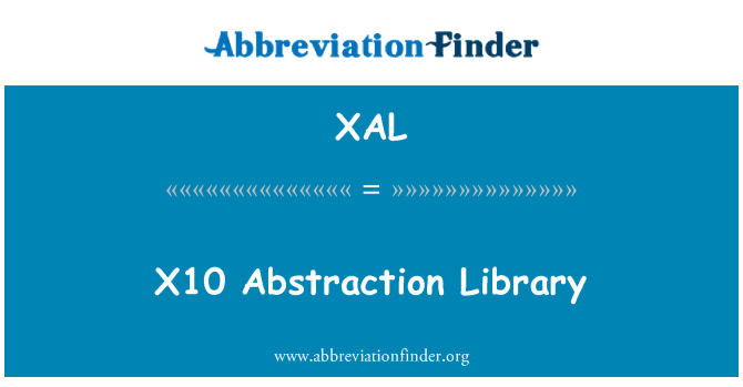 XAL: X10 Abstraction Library