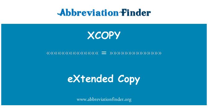 XCOPY: Genişletilmiş Kopyala