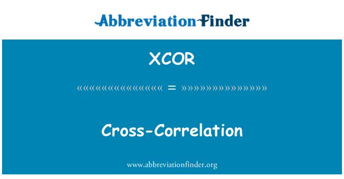 XCOR: Cross-Correlation