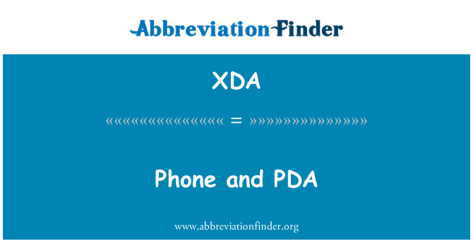 XDA: Phone and PDA