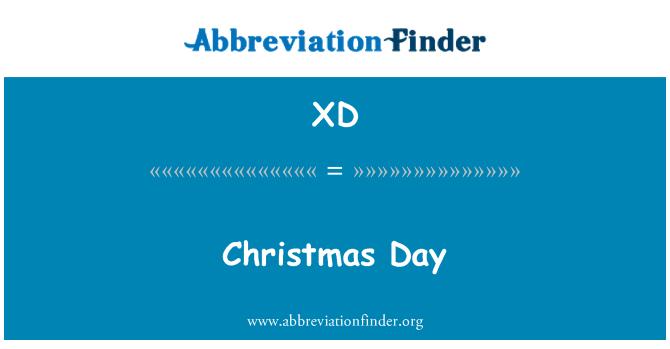 XD: Christmas Day