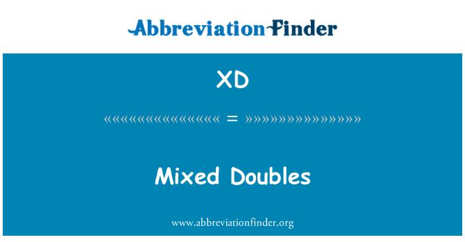 XD: Doubles mħallta