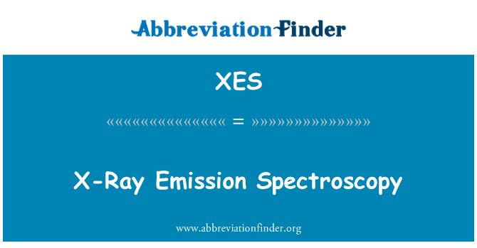 XES: X-Ray Emission Spectroscopy