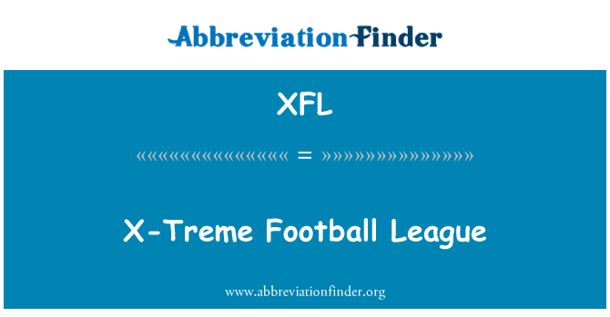 XFL: X-Treme Football League
